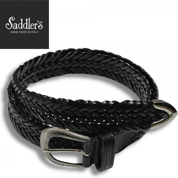 21SSモデル Saddler's (サドラーズ) / ブラック / ウエスタンバックル / プンターレ使用 / レザーメッシュベルト メインイメージ