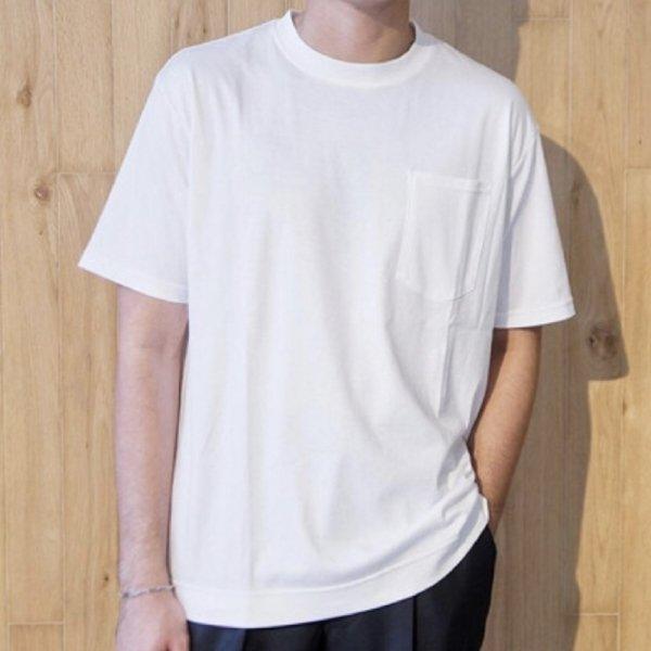 COLONY CLOTHING ( コロニークロージング ) / ホワイト / クルーネック / 胸ワンポケット / ビッグシルエットカットソー
