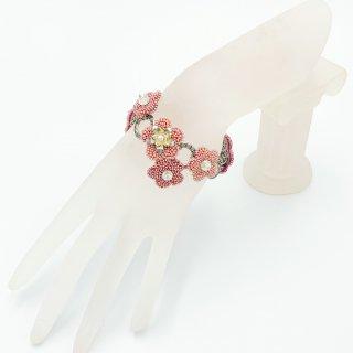 大人可愛いお花ブレスレット 〜 Pink