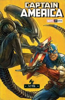 CAPTAIN AMERICA #27 SHAVRIN MARVEL VS ALIEN VAR