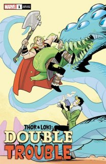 THOR AND LOKI DOUBLE TROUBLE #1 (OF 4) BUSTOS VAR
