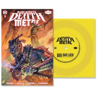 DARK NIGHTS DEATH METAL #3 SOUNDTRACK SPEC ED DENZEL CURRY WITH FLEXI SINGLE FEATURING BAD LUCK