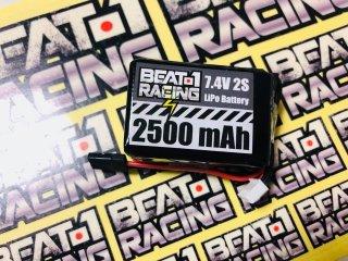 BEAT1RACING 7.4V2500mAh 受信機用LIPOバッテリー (俵タイプ)