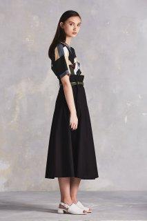 [Kowtow] クロスオーバースカート ブラック