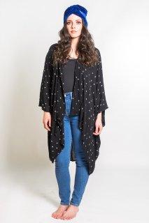 [Symbology] 羽織りジャケット (ブラック&クリーム) 【ゆうパケット可】