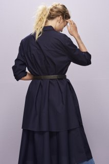 [Kowtow] 韻を踏むドレス (ネイビー)