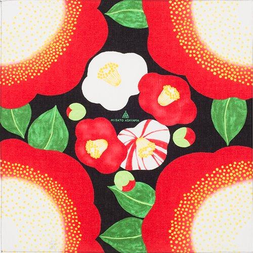 単品 チーフ 50� Misato Asayama 椿ブラック