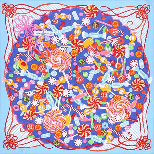 単品 チーフ 50� Misato Asayama パッケージキャンディー
