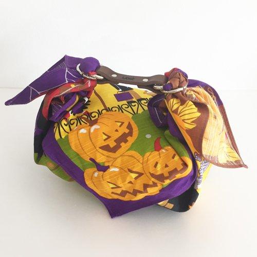 【お弁当ハンドセット】ハロウィン チーフ50cm+お弁当ハンド
