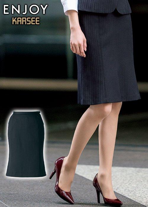 フェミニンで繊細な光沢感のあるマーメイドラインスカート|カーシー EAS373