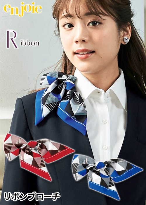 シャープな幾何学模様のリボンブローチ|ジョア OP164