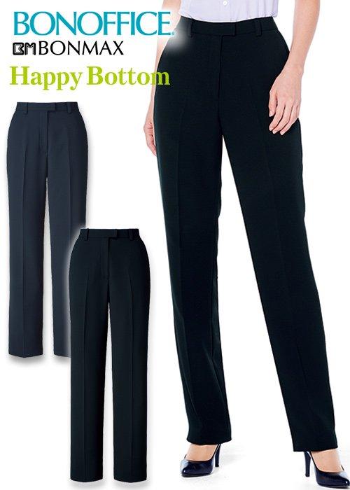 クリーンな着心地のセンタープレスでスッキリ見え裾上げらくらくパンツ|ボンマックス AP6246