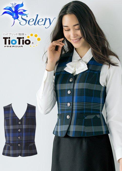 商品型番:S-03986|【TioTioプレミアム】表情を明るくみせるパトリックチェックのベスト(ピンク)《パトリックコックス》|セロリー S-03986