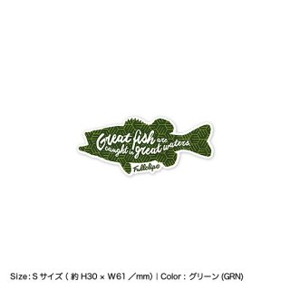 <img class='new_mark_img1' src='https://img.shop-pro.jp/img/new/icons13.gif' style='border:none;display:inline;margin:0px;padding:0px;width:auto;' />GREAT FISH STICKER S|グレートフィッシュステッカー Sサイズ