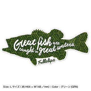 GREAT FISH STICKER L|グレートフィッシュステッカー Lサイズ