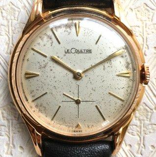 LeCultreルクルト【3ヶ月動作保証】OH&新品仕上済シャンパンゴールドスモールセコンドアンティーク腕時計手巻きメンズウォッチ金LC19072002