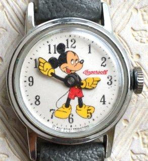 INGERSOLL インガソール ミッキーマウス アンティーク腕時計 手巻き メンズウォッチ レディース ユニセックス m19072001