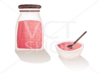 イチゴジャムの瓶
