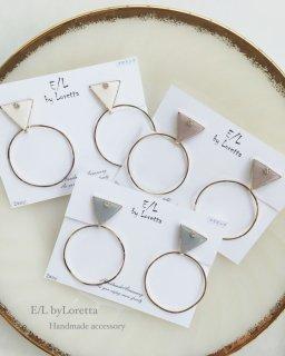 Triangle▽ bighoop pierce/earring(0019)