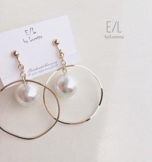 Big Perl hoop pierce/earring