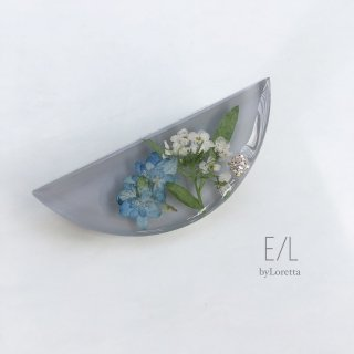 Flower hair clip(gray)