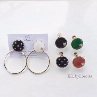 2way Mini circle dot hoop pierce/earring
