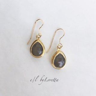 グレームーンストーン Drop pierce/earring