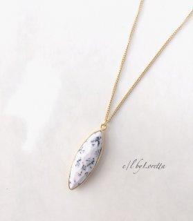 デンドライトオパール Marquis necklace