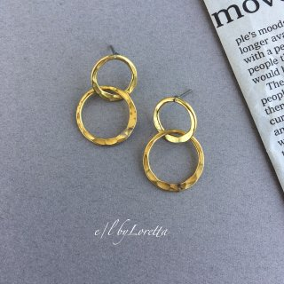 真鍮 W ring pierce