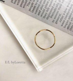 真鍮 wave ring