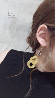 【20% OFF!!】Color w chain pierce/earring(Yellow)