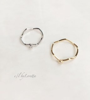 (全2色)Crystal wave ring