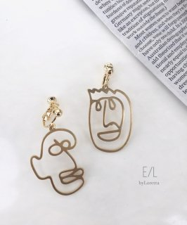 真鍮 Face pierce/earring (Smile)