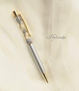 ハーバリウムball pen(Antique blue)