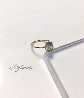 ラブラドライト 14kgf oval ring