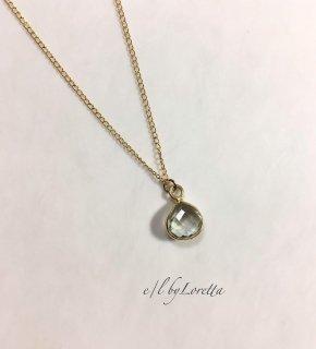 グリーンアメジスト 14kgf necklace