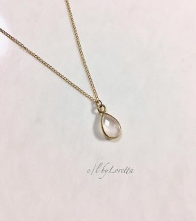 ローズクォーツ 14kgf drop necklace