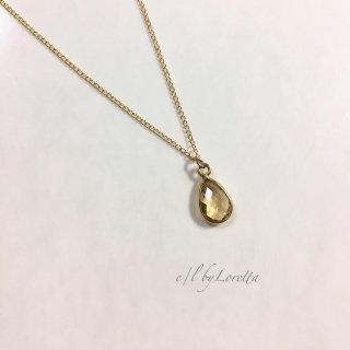 シトリン 14kgf drop necklace