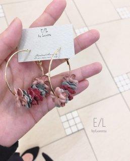 【20% OFF!!】Flower Hoop Pierce