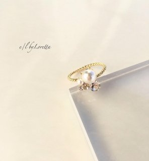 Pearl bijou ring