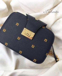 クリスタルチャームset Handle shouldere chain bag