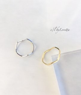 (全2色)Mat color wave Ring