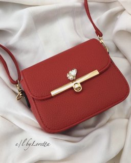 ≪全3色≫Heart bijou mini shoulder bag