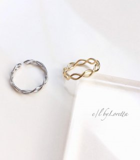 (全2色)Mat twist ring