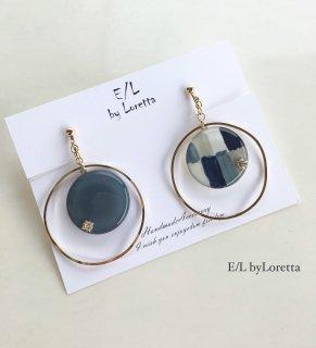 Mix color big hoop pierce/earring