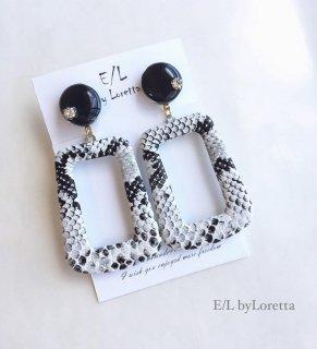 Python mini circle pierce/earring(Black)