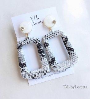Python mini circle pierce/earring(White)