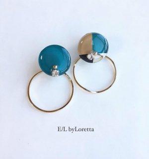 2way 3color hoop pierce/earring(Green)