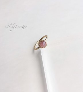 ストロベリークオーツ 真鍮 design Ring