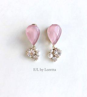 Color shizuku bijou pierce/earring(Pink)
